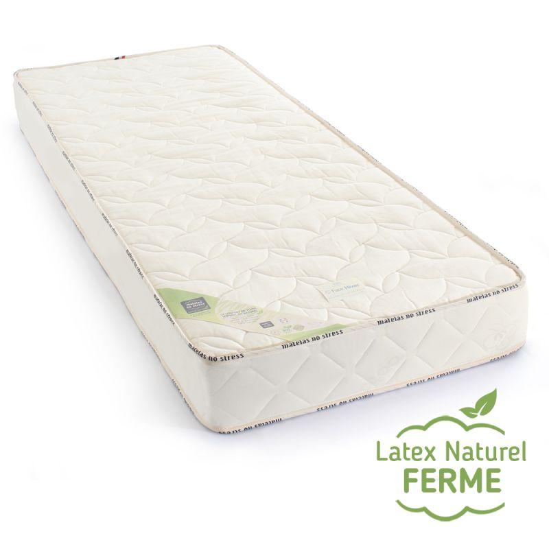 Matelas 110x180cm en Latex 100% Naturel, Confort Optimal