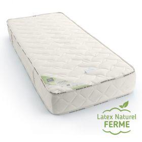 Matelas latex naturel 90x200 de confort ferme haut de gamme