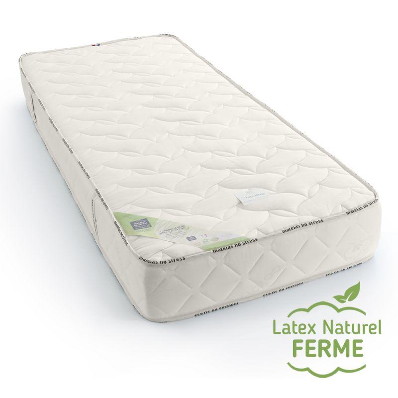 Matelas en latex naturel 120x190 ferme, haut de gamme, 7 zones de confort