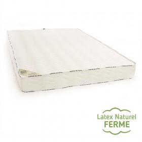 Matelas 100 % latex naturel ferme 5 zones de confort bambou