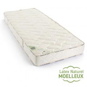 matelas 100 % latex naturel BIO moelleux 7 zones 21cm