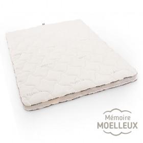 Surmatelas seaqual à mémoire de forme, plus moelleux, idéal pour le mal de dos.