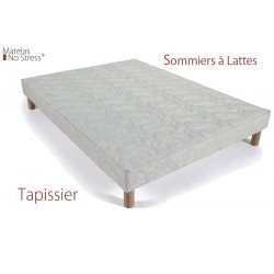 sommier sur mesure tapissier lattes fixes matelas no stress. Black Bedroom Furniture Sets. Home Design Ideas