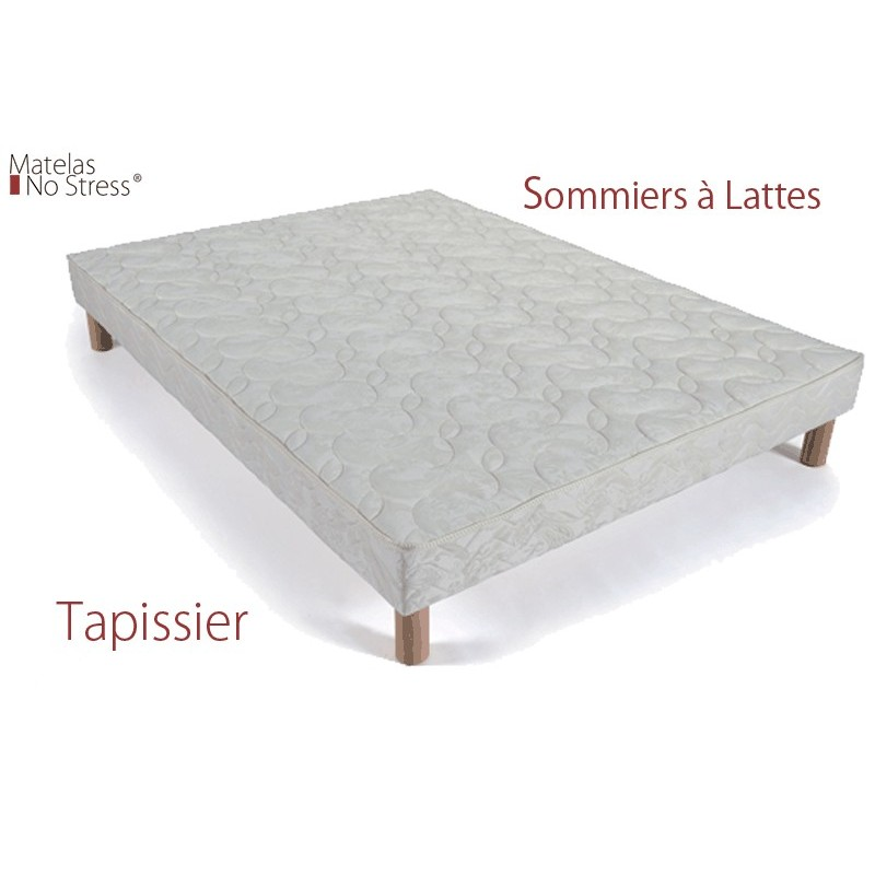 sommier tapissier 120x200 matelas no stress. Black Bedroom Furniture Sets. Home Design Ideas