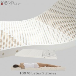 Matelas Latex Grand Confort Ferme Latex 5 Zones 21 cm.