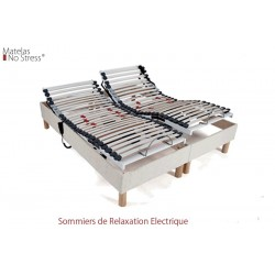 Sommier 90x200 Relaxation Electrique literie 180x210