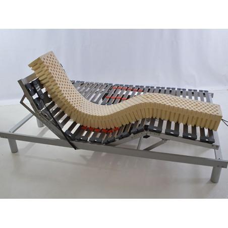 Sommier de Relaxation Electrique Encastrable Wengé 90x190