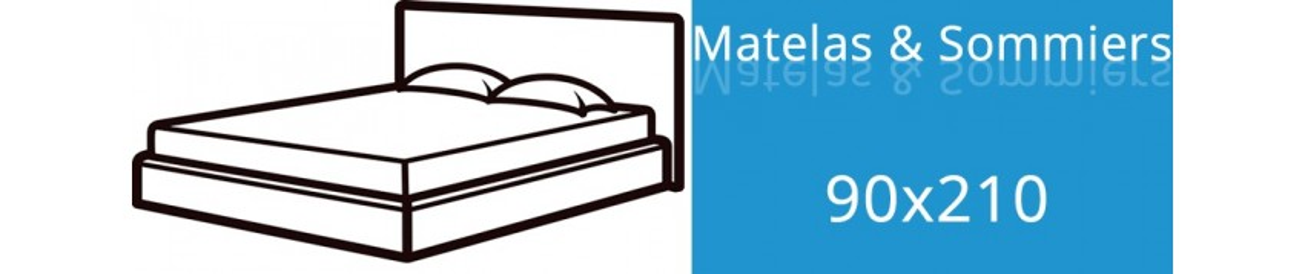 Matelas 90x210 et Sommier 90x210