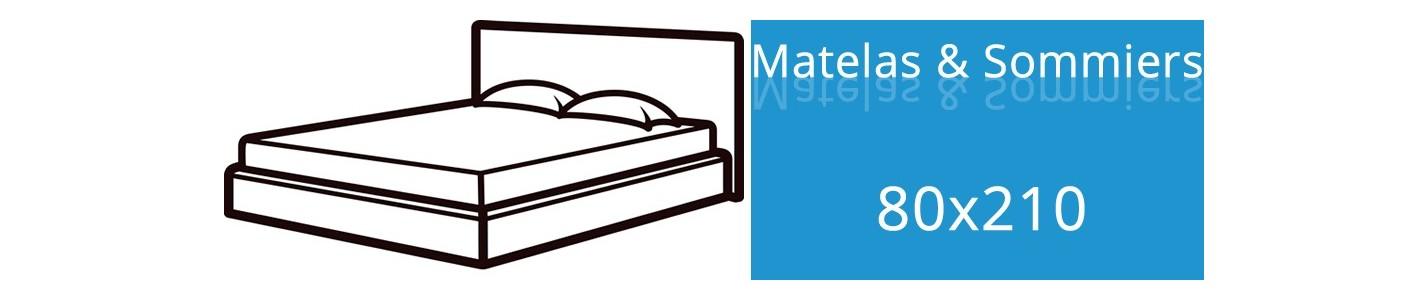 Matelas 80x210 et Sommier 80x210