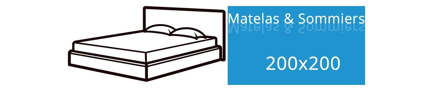 Matelas 200x200 et Sommier 200x200