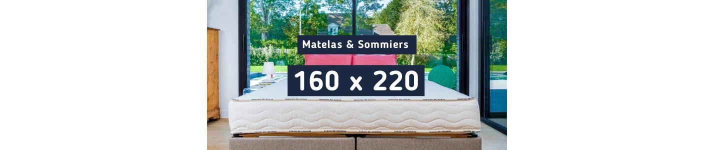 Matelas 160x220 et Sommier 160x220